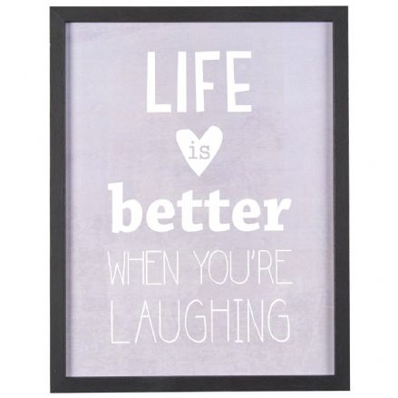 50% OFF Life Is Better When You're Laughing Framed Sign